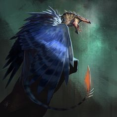 Carrion Bird, Ramon Acedo on ArtStation at https://www.artstation.com/artwork/ZraOw