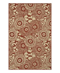 Take a look at this Rust & Ivory Arbor Indoor/Outdoor Rug by Loloi Rugs on #zulily today!