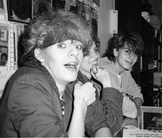 """nickrhodesclothes: """"bradelterman: """" Someone asked about John Taylor ( Duran Duran) photos. Here he is with Nick Rhodes in 1982 at a recording signing party at Tower Records on the Sunset Strip. I think I was one of the few photographers who turned up..."""