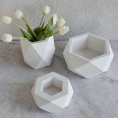 Geometric planters via Etsy
