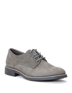 Essential lace-ups for the fashion-forward, rendered in brushed leather with a coolly-contrasting sole.