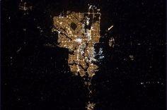 Photo of Calgary from space from Chris Hadfield http://twitter.com/Cmdr_Hadfield/status/301457244086738944/photo/1