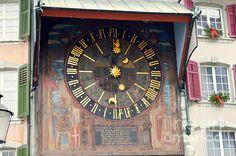 Gorgeous photo by Felicia Tica #switzerland   #schweiz   #solothurn   #clocks   #architecture