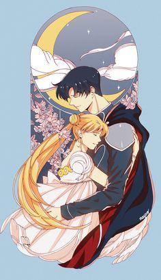 [Sailor Moon] Princess Serenity - Prince Endymion by meyoco