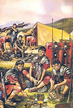 """Legionaries in the camp"""