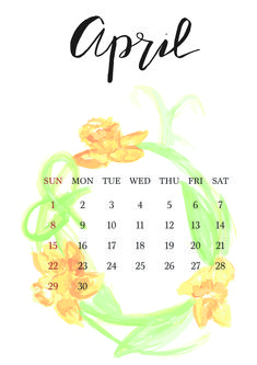 April 2018 Calendar - Watercolor (A4) 9 And 10, Bujo, A4, Projects To Try, Calendar, Backgrounds, Watercolor, Wedding, Pen And Wash