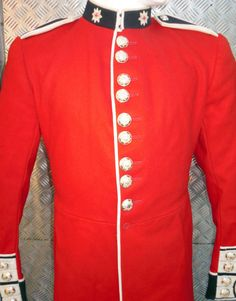 """Genuine British Army Coldstream Guards Red Coat / Tunic / Jacket. Size 38"""" Chest"""