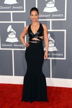 Alicia Keys in Azzedine Alaïa - Grammy Awards 2013