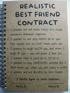 ReALiStiC Best Friend Contract – 5 x 7 journal – ReALiStiC Best Friend Vertrag – 5 x 7 Tagebuch – Related posts: ReALiStiC Best Friend Vertrag – 5 x 7 Tagebuch – … Bester Freund Vertrag – Tagebuch – Geschenke …