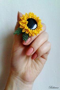 sunflower - layer petals around a button for flower