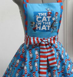Cat In The Hat Apron great for teachers or reading aids