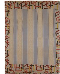 African-American pieced quilt c. 1930-40 mixed fabrics 62 x 82 inches     stretched on archival mount