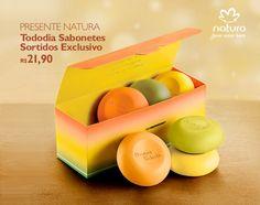 Sabonetes exclusivos para presentear no Natal. Acesse  rede.natura .net espaco sueylaneves 02d262cbb92e0