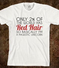 ONLY 2 % OF THE WORLD HAS RED HAIR