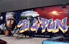 Cassie and Leila shoot a scene from a music video at this mural of Big Pun in the South Bronx.