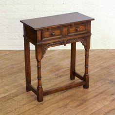 Antique Oak Side Table - Circa 1920