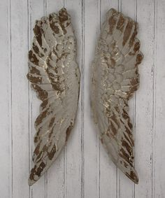 Pacific Lifestyle Poly Resin Angel Wings Wall Art, Distressed Grey, 210 x 1130 x 470 mm Wooden Angel Wings, Angel Wings Wall Decor, Wedding Gift Inspiration, Gothic Angel, Gold Walls, Grey And Gold, Inspirational Gifts, Beautiful Interiors, Wall Art Decor