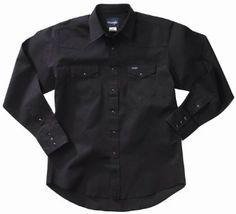 Wrangler Men's Authentic Cowboy Cut Work Western Long Sleeve Shirt: Clothing