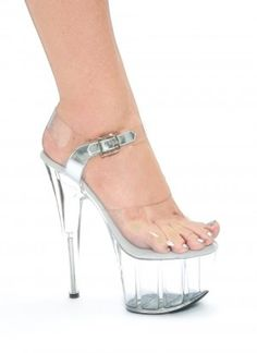Sexy Pole Dancing Shoes - Clear Pole Dancing Style High Heels