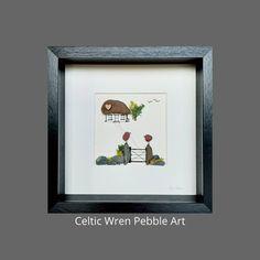 Irish Cottage, Irish Sea, Shadow Box Frames, Where The Heart Is, Wren, Watercolor Landscape, Pebble Art, Celtic, Ireland