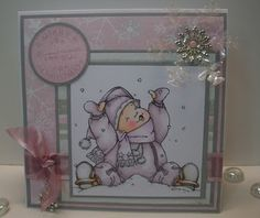 Adorable Kai in the Snow card by Mo Manning digital