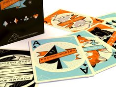 A unique deck of cards that features mid-century inspired graphics and whimsical characters that would be fun for all ages.