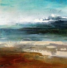 Contemporary Abstract Landscape Painting Premonition by Intuitive Artist Joan Fullerton, painting by artist Joan Fullerton