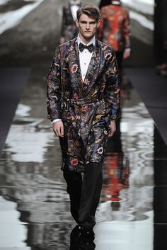 Louis Vuitton Men's RTW Fall 2013 - Hell jacquard smoking robe designed by the Chapman brothers. Enough said. Coolest tux ever.