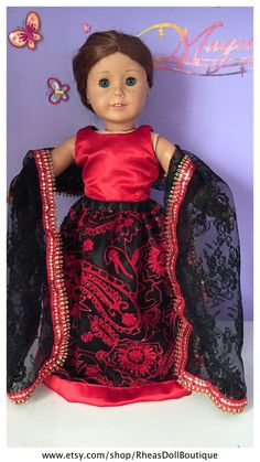 American Girl Doll Princess Outfit Lehnga by RheasDollBoutique