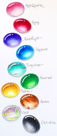 Students will learn how to draw gems with Tombow markers and colored pencils. The artist Marie Browning shares her tips for how to draw gems in four easy steps. I will be using this resource when students design zentangle art using gems as their subject. Pencil Drawing Tutorials, Drawing Tips, Art Tutorials, Drawing Ideas, Pencil Sketching, Watercolor Tutorials, Watercolor Crystal Tutorial, Watercolor Techniques, Makeup Tutorials