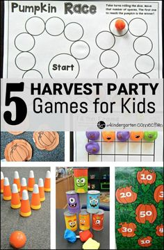 Fall is here, and that means many fun things, including Halloween. Enjoy these fall party and games for kids!