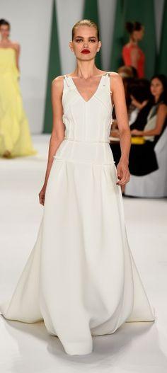 White-on-white.Carolina Herera - Spring Summer 2015. Mercedes Benz Fashion Week. New York City.