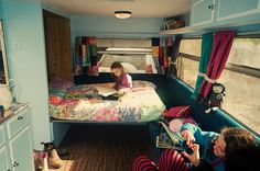 Murphy bed in a trailer.