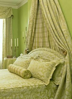 My love of lime green continues to grow.  Room by Mary Douglas Drysdale.  How can people say that they hate green!  How lovely is this!