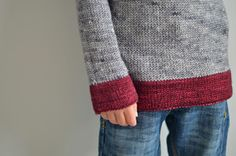 Contrast | Pattern  I'm thinking cranberry as trim on a grey sweatshirt sweater!