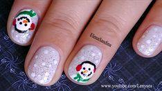 Snowman Nail Design - Nail Art Gallery by NAILS Magazine www.nailsmag.com