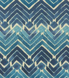 Kelly Ripa Upholstery Fabric-Zen Blend Indigo
