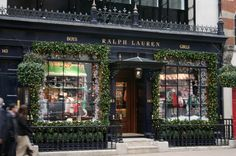 After the quirk and colour of Selfridge's windows, Ralph Lauren wins on tradition. With its pine trimmed windows and ample scattering of tw...