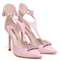 Sophia Webster 'Eva' pink patent pumps