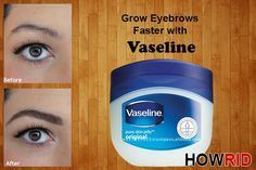 How to make eyebrows grow with vaseline? Does vaseline help your eyebrows grow? How to use vaseline on eyebrows to grow. Vaseline for eyebrows treatment. Make Eyebrows Grow, Growing Out Eyebrows, How To Grow Eyelashes, Longer Eyelashes, How To Thicken Eyebrows, Vaseline Eyebrows, Henna Eyebrows, Eye Brows, Vaseline Hair