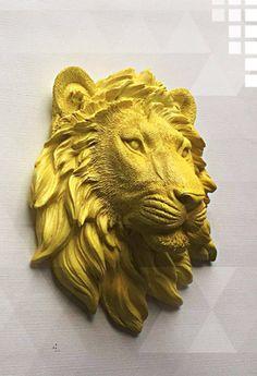 Decoración : Cabeza León Pequeño