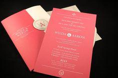 Pop-up Wedding Invitation Card by Cheng Man, via Behance