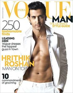 may man Hrithik Roshan vogue india cover 2008 Hrithik Roshan Hairstyle, Vogue Men, Toned Abs, Vogue India, Vogue Covers, Fitness Magazine, Male Body, Beautiful Celebrities, Cover Photos