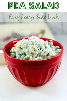 Pea Salad Recipe - Easy BBQ Side Dish