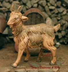"FONTANINI DEPOSE ITALY 5"" SERIES STANDG GOAT NATIVITY VILLAGE ANIMAL FIGURE MINT #Fontanini"