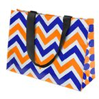 Orange & Blue Chevron Tote Bag at The Gator Shop