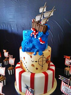 Ahoy there maties! Pirate party cake