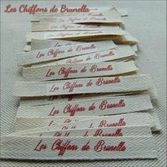 Tutorial for Making Labels - Brunella& Cloths, Diy And Crafts, Tut to make Labels. Sewing Hacks, Sewing Tutorials, Sewing Patterns, Sewing Tips, Sewing Crafts, Converse Outfits, How To Make Labels, Baby Mobile, Couture Sewing