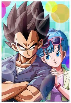 Bulma and Vegeta (Dragon Ball Super) (c) Toei Animation, Funimation & Sony Pictures Television Dragon Ball Gt, Manga Sexy, Majin, Dragonball Super, Son Goku, Dbz Vegeta, Goku Vs, Anime Watch, Anime Couples
