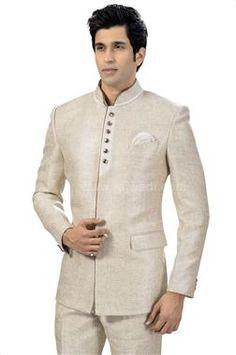 Buy Designer Traditional Jodhpuri Suit online for Men in India. Shop for latest collection stylish Bandhgala wedding suits for groom. Mens Attire, Groom Attire, Mens Suits, Mens Indian Wear, Indian Groom Wear, Prince Suit, Restaurant Uniforms, Barong, Designer Suits For Men